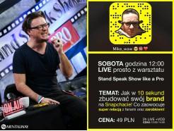 """Zapis VOD z warsztatu LIVE """"Moduł: SNAPCHAT"""""""