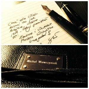 Autograf z osobista dedykacją autora (przedspredaż)
