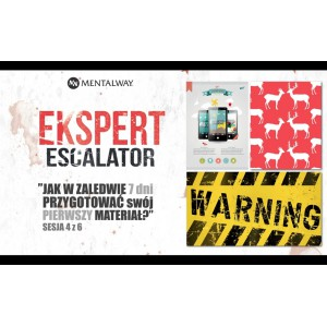 "Zapis VOD webinara Ekspert Escalator ""Najprostszy i najtrudnieszy element Ekspertyzy"""