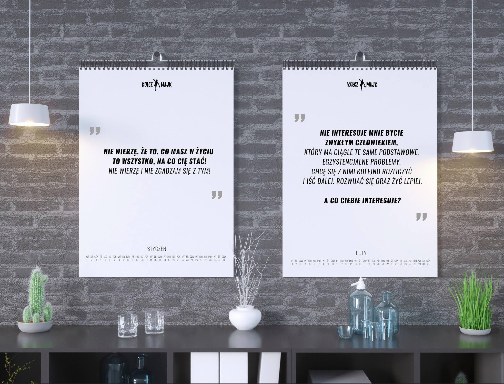Kalendarz MentalFrame pionowy na 2019