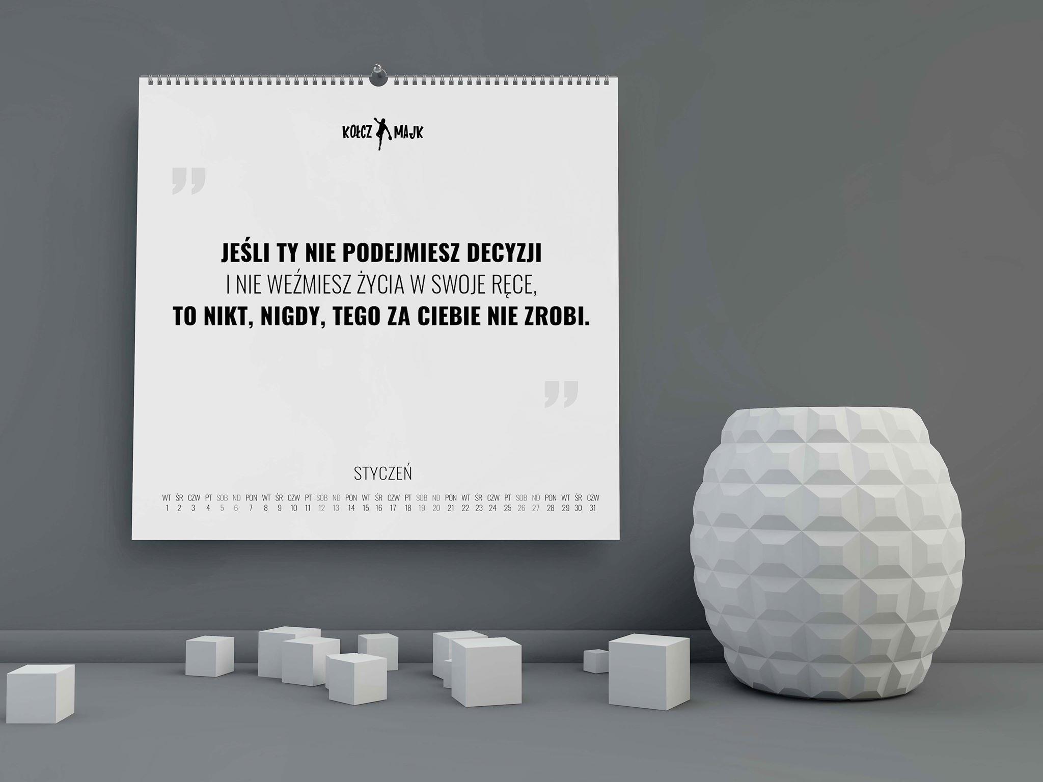 Kalendarz MentalFrame kwadratowy na 2019